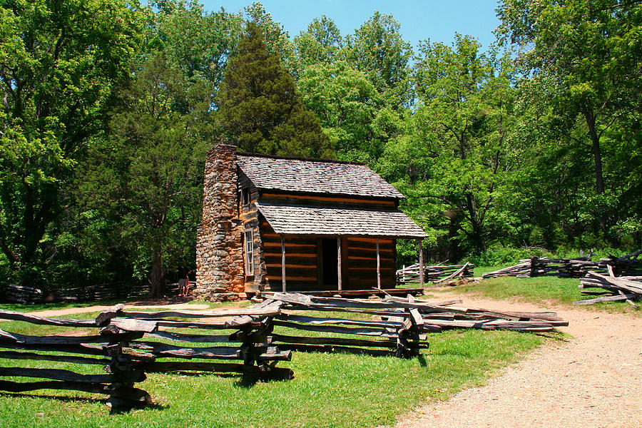 Rustic Log Cabin is a photograph by Diana Gentry which was uploaded on ...