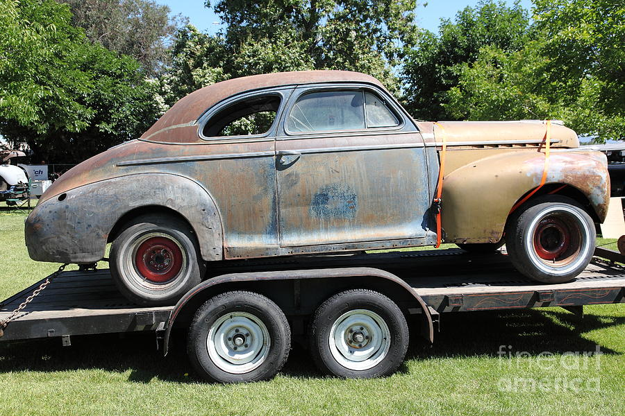 Rusty 1941 Chevrolet . 5d16210 Photograph  - Rusty 1941 Chevrolet . 5d16210 Fine Art Print