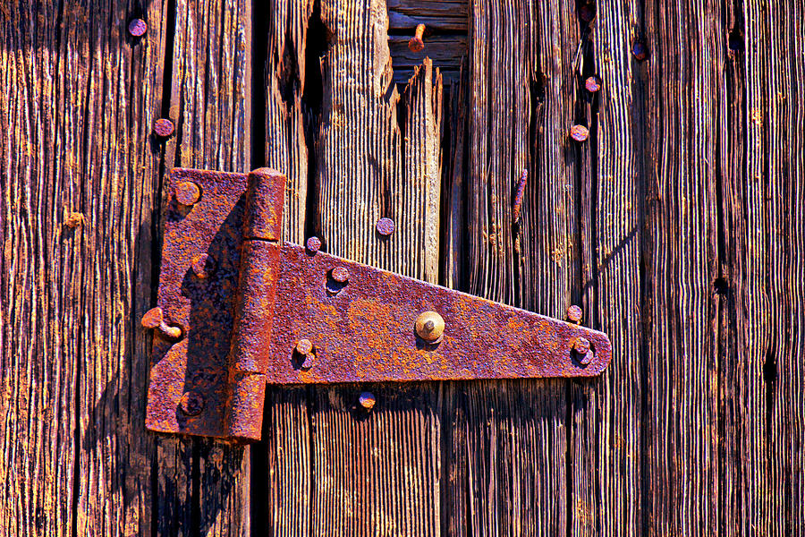 Rusty Barn Door Hinge  Photograph  - Rusty Barn Door Hinge  Fine Art Print