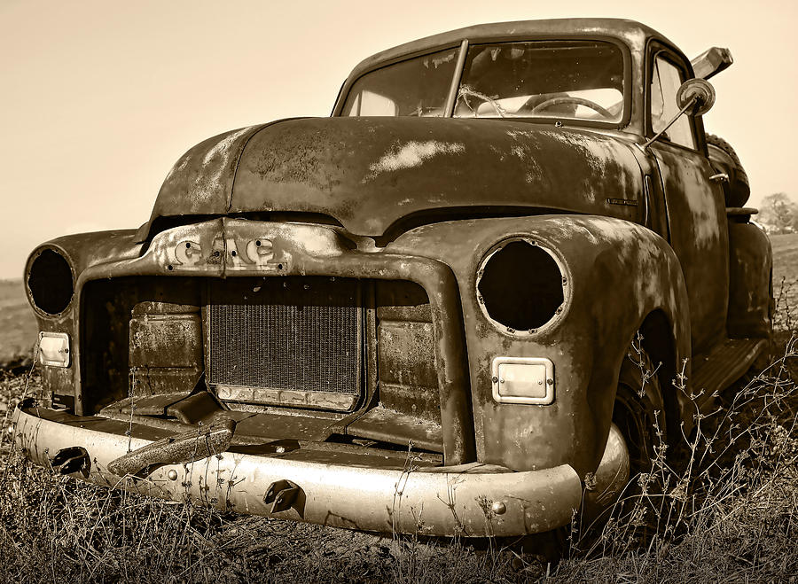 Rusty But Trusty Old Gmc Pickup Photograph