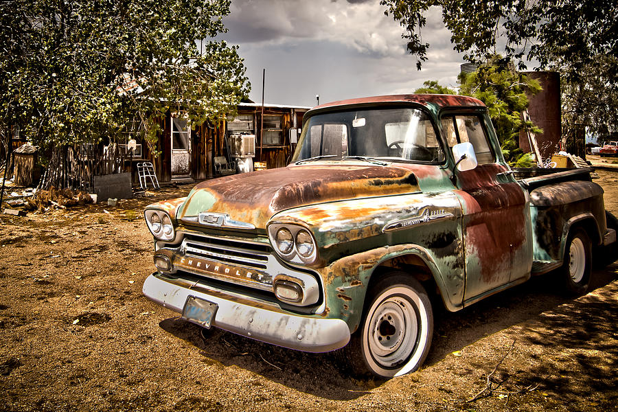 Rusty Chevy Pickup Photograph by Ken Nelson - Rusty Chevy Pickup ...