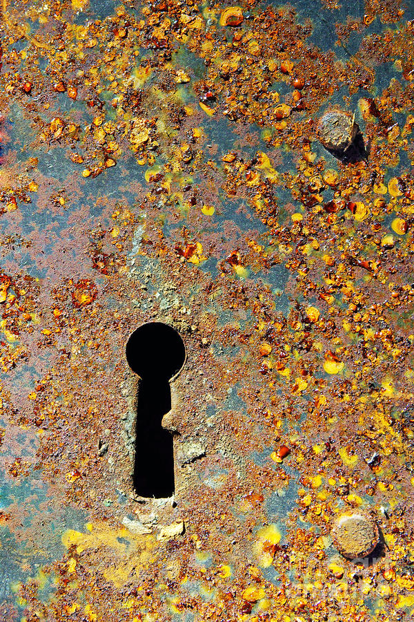Rusty Key-hole Photograph  - Rusty Key-hole Fine Art Print