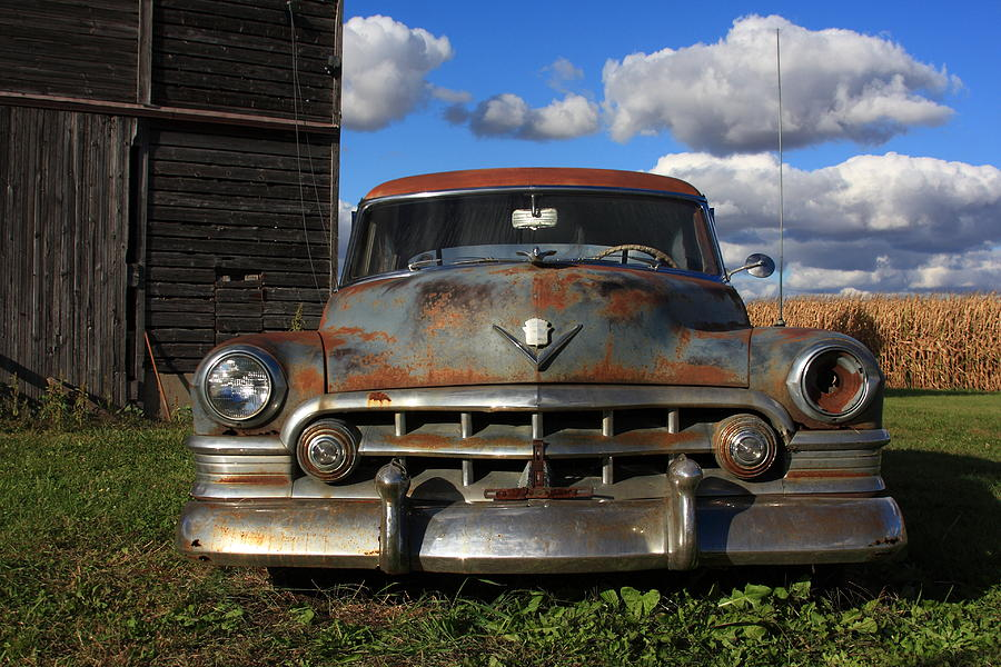 Americana Photograph - Rusty Old Cadillac by Lyle Hatch