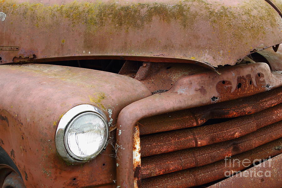 Rusty Old Gmc Truck . 7d8403 Photograph  - Rusty Old Gmc Truck . 7d8403 Fine Art Print
