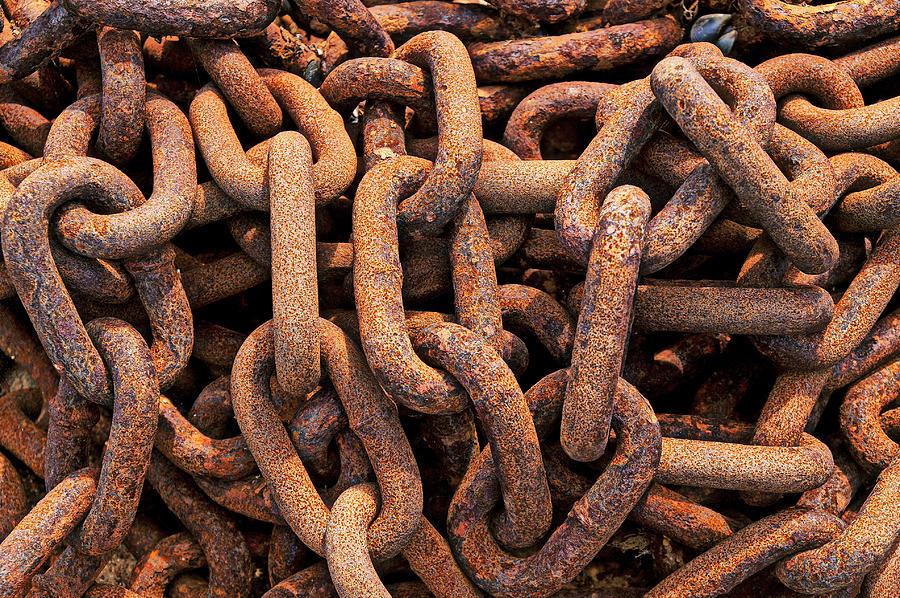 Rusty Ships Chain Photograph