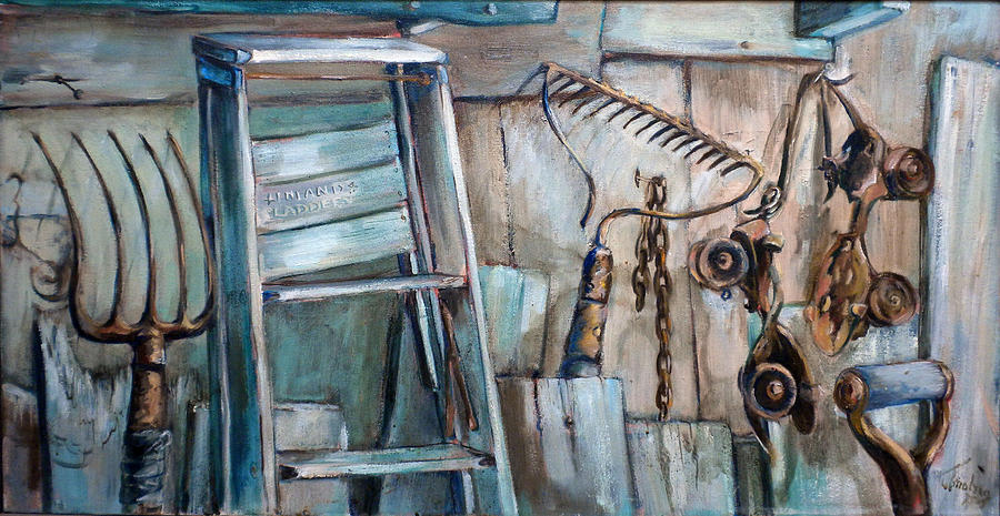 Rusty Tools Painting  - Rusty Tools Fine Art Print