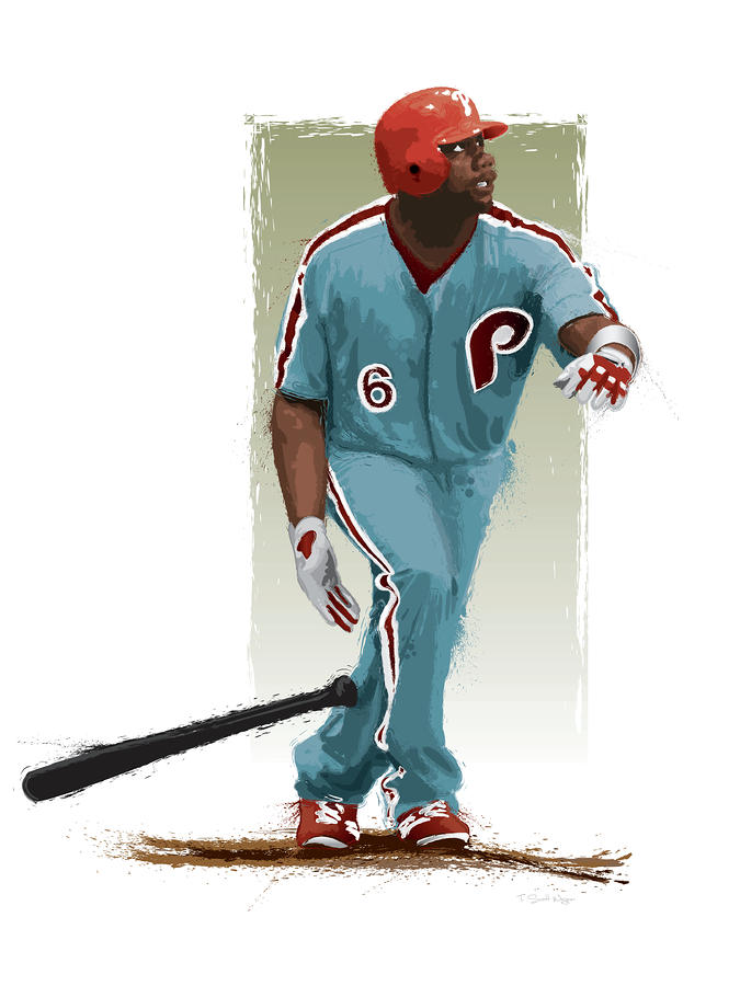 Ryan Howard Digital Art  - Ryan Howard Fine Art Print