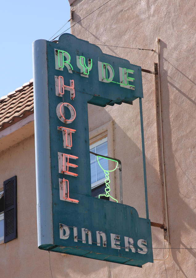 Ryde Hotel Sign Photograph