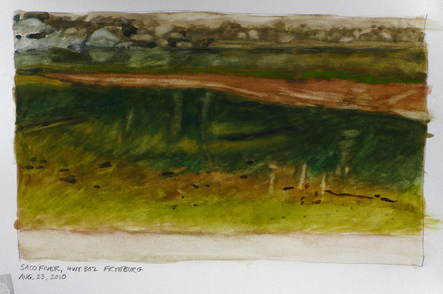 Saco River Maine Painting