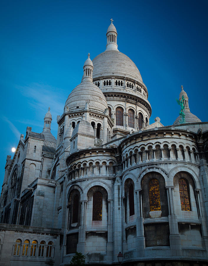 Sacre-coeur At Night Photograph  - Sacre-coeur At Night Fine Art Print