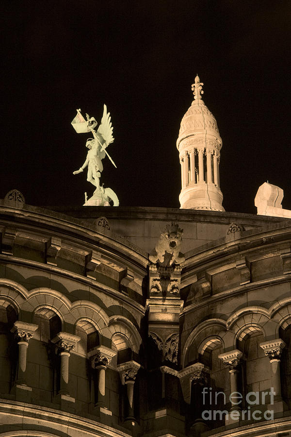 Sacre Coeur By Night Vi Photograph