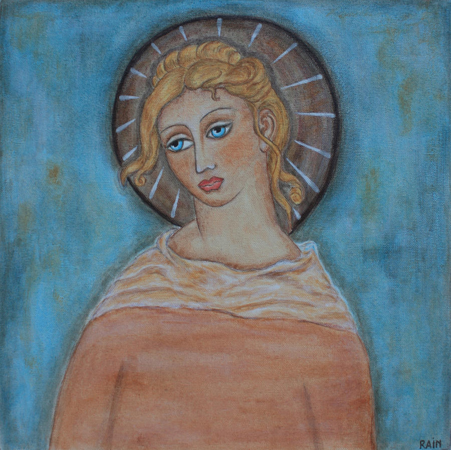 Sacred Angel Painting  - Sacred Angel Fine Art Print