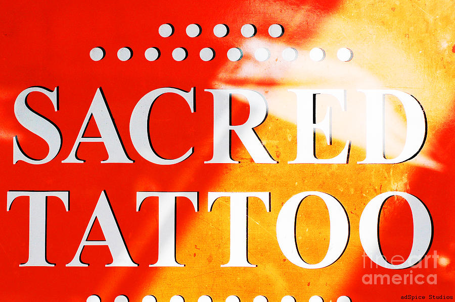 Sacred Tattoo Sign Digital Art  - Sacred Tattoo Sign Fine Art Print