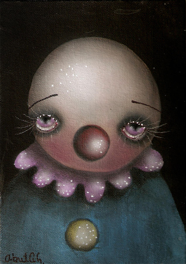 Sad Clown Painting  - Sad Clown Fine Art Print