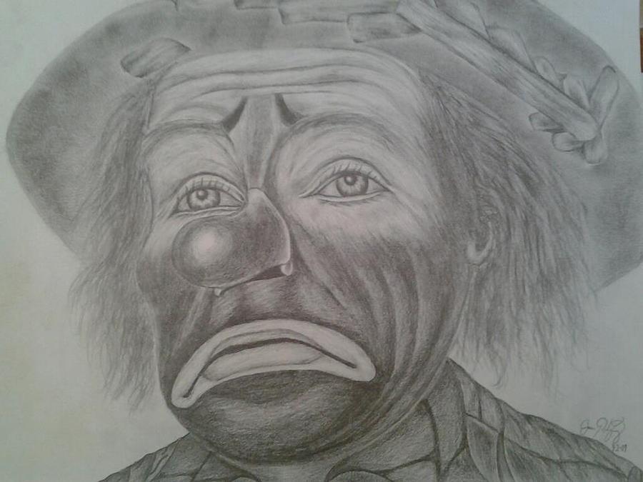 Sad Girl Clown Drawings Sad clown by