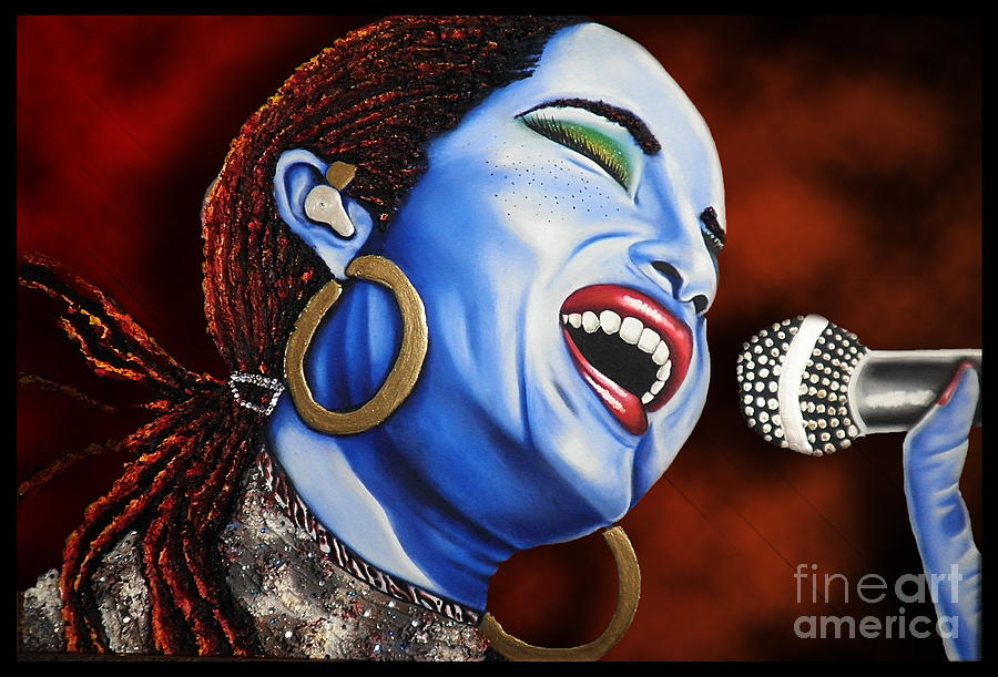 Sade In Concert Painting  - Sade In Concert Fine Art Print