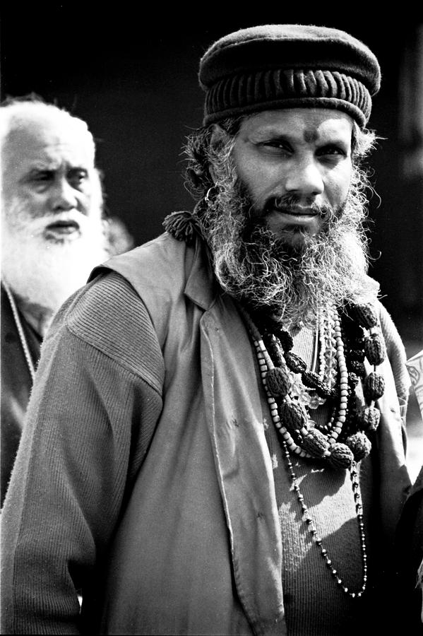 Sadu With Baba Photograph  - Sadu With Baba Fine Art Print