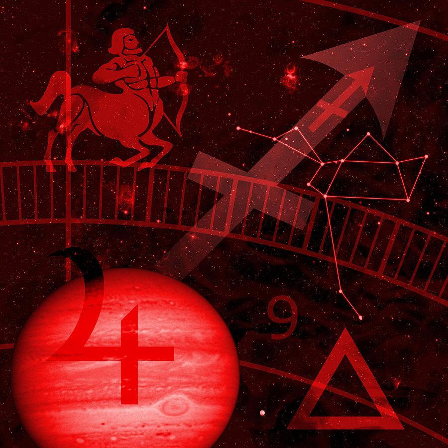 Horoscope Digital Art - Sagittarius by JP Rhea