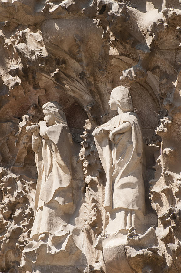 Sagrada Familia Nativity Facade Detail Photograph  - Sagrada Familia Nativity Facade Detail Fine Art Print