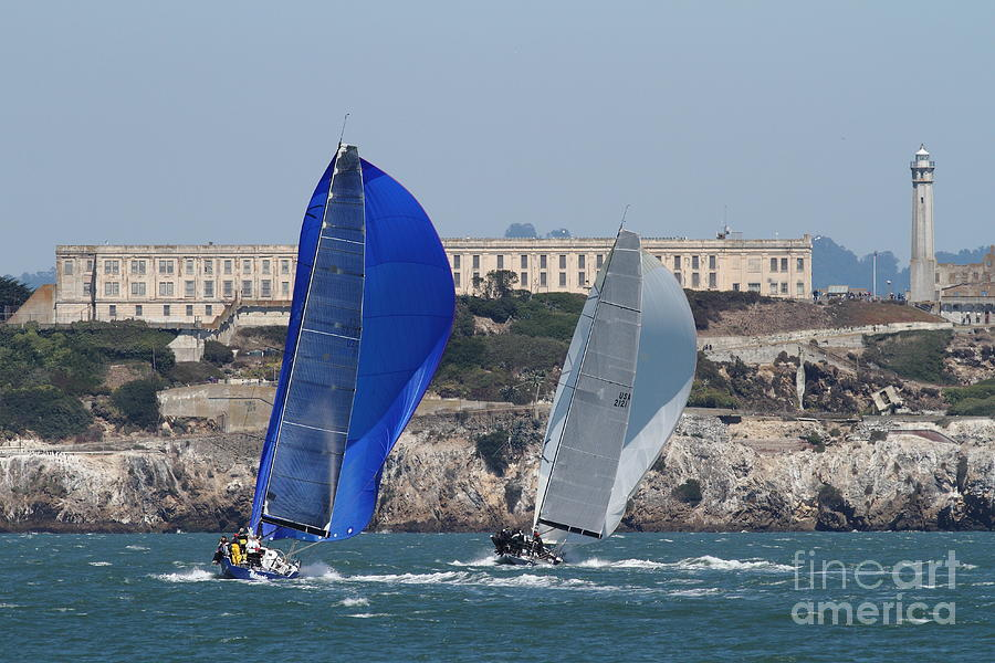 Sail Boats On The San Francisco Bay - 7d18360 Photograph  - Sail Boats On The San Francisco Bay - 7d18360 Fine Art Print