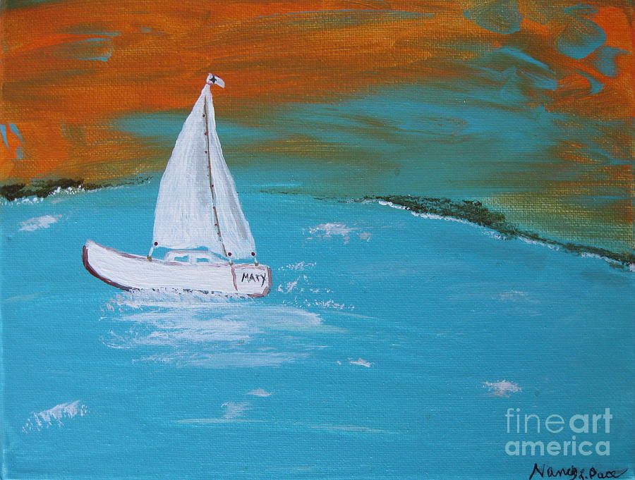 Sail The Sea Of Galilee  Painting