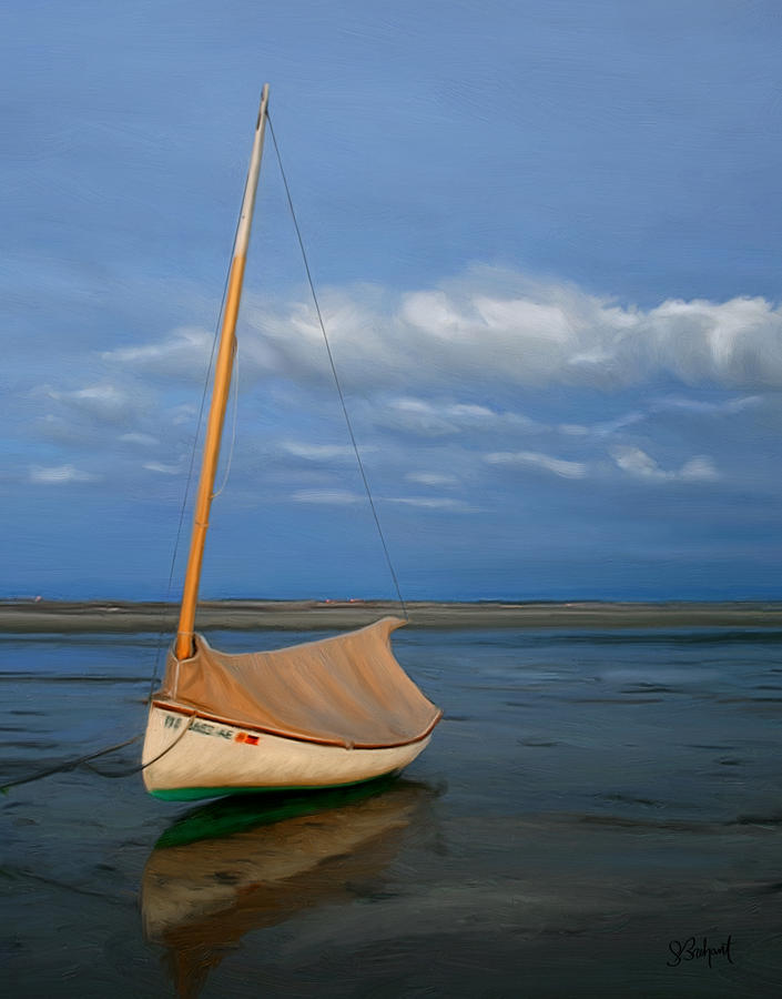 Sailboat At Lowtide Painting  - Sailboat At Lowtide Fine Art Print
