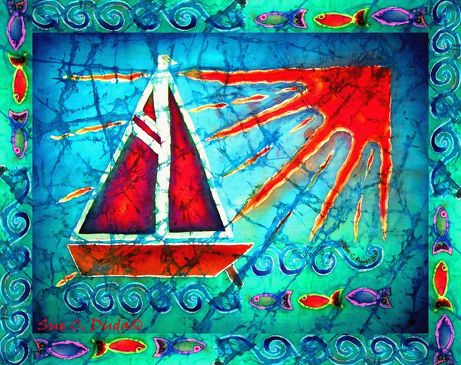Sailboat In The Sun Painting