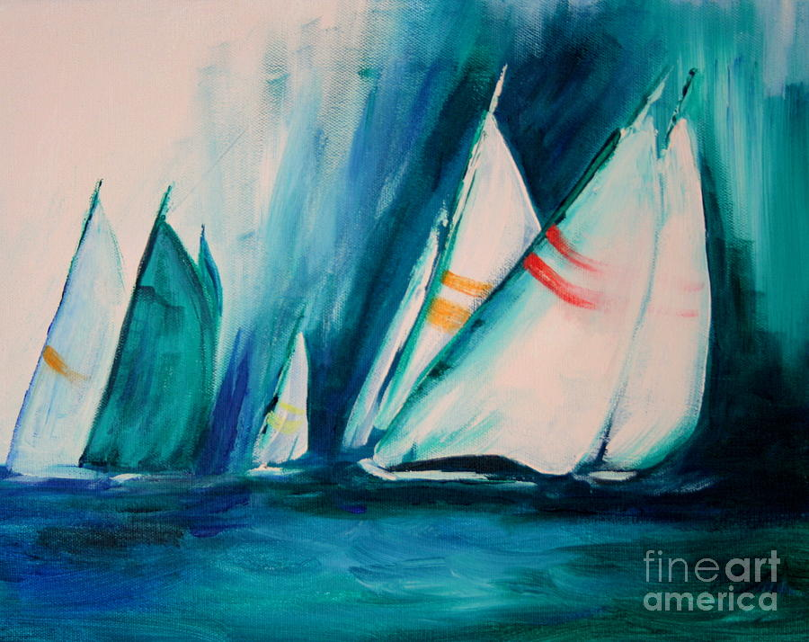 Sailboat Studies Painting  - Sailboat Studies Fine Art Print