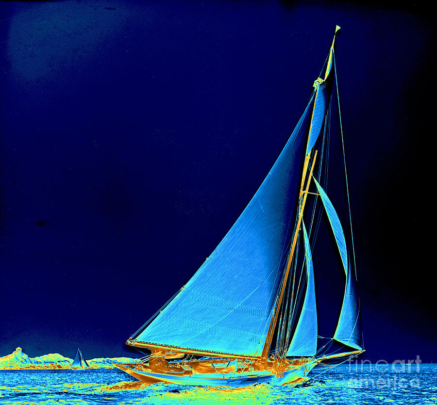 Sailboat Wayward 1890 Photograph  - Sailboat Wayward 1890 Fine Art Print