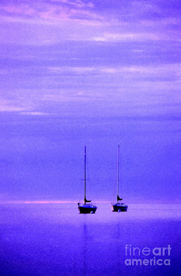 Sailboats In Blue Photograph