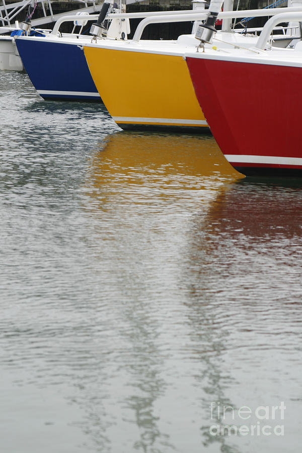 Sailboats In Primary Colors Photograph
