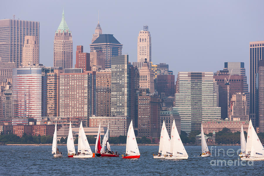 Sailboats On The Hudson II Photograph