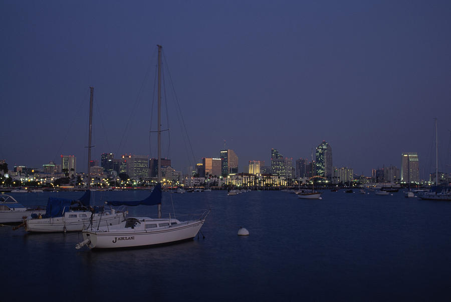 Sailboats With San Diego California Photograph By Phil