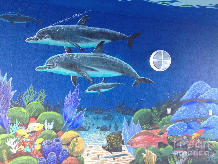 Sailfish Splash Park Painting - Sailfish Splash Park 2 by Carey Chen