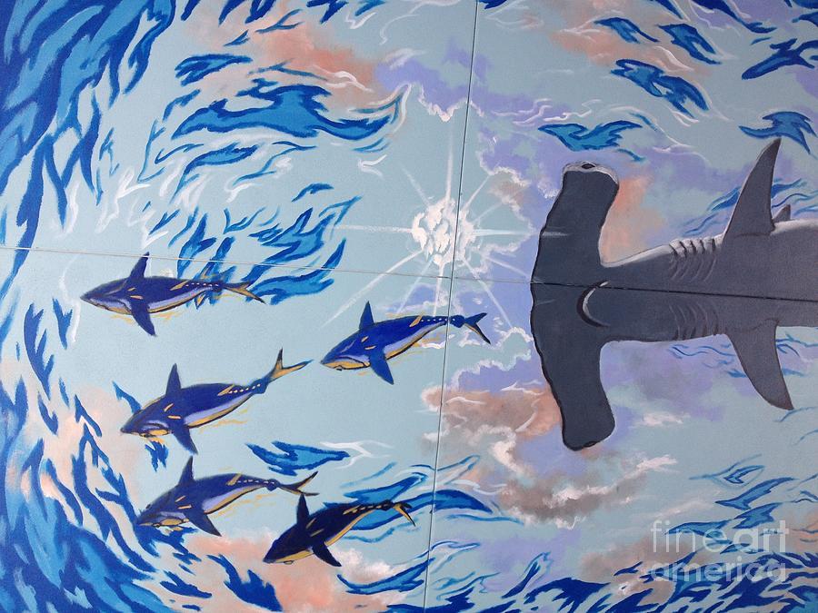 Shark Painting - Sailfish Splash Park Mural 8 by Carey Chen
