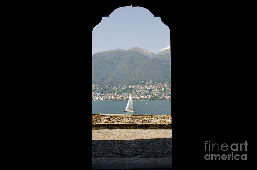 Sailing Boat Through An Open Door Photograph  - Sailing Boat Through An Open Door Fine Art Print