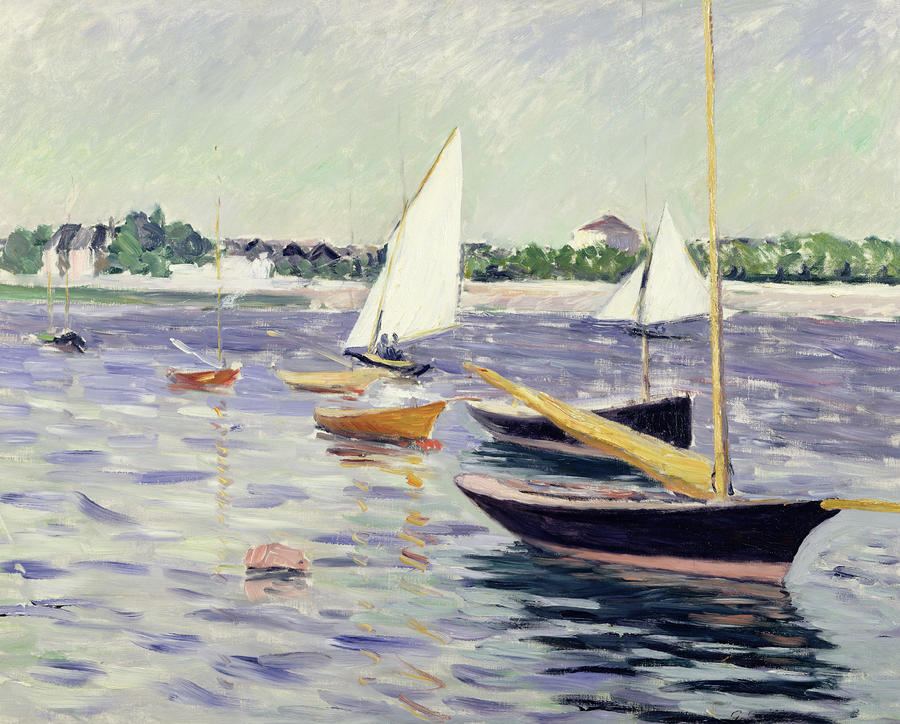 Sailing Boats At Argenteuil Painting