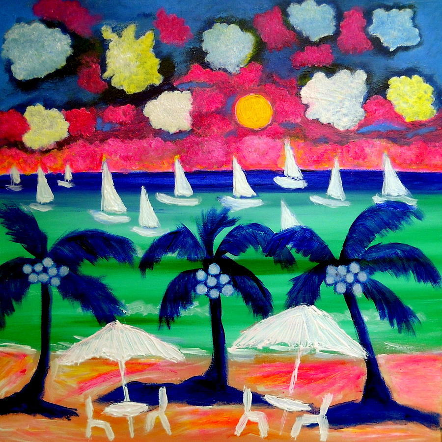 Sailing Mexico Painting  - Sailing Mexico Fine Art Print