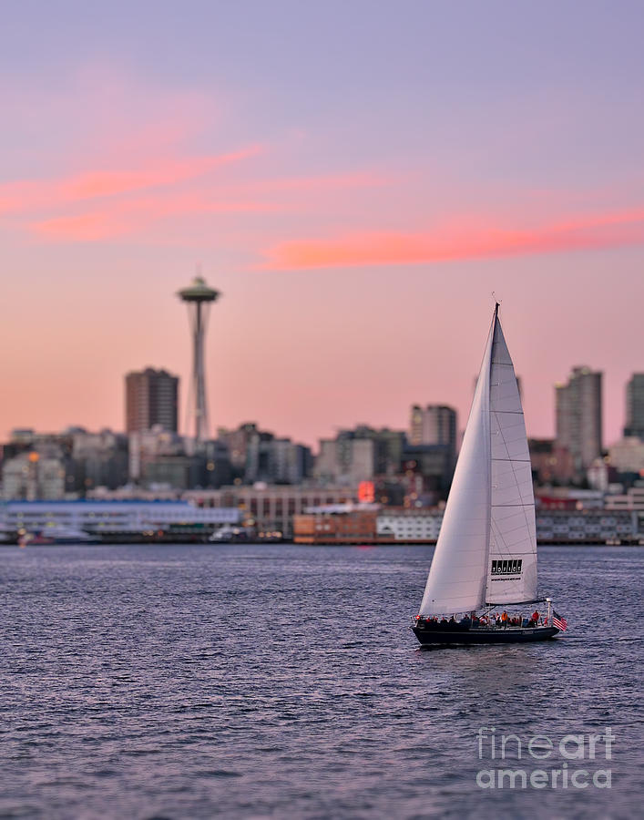Sailing Puget Sound Photograph  - Sailing Puget Sound Fine Art Print