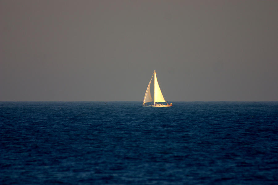 Sailing The Blue Photograph  - Sailing The Blue Fine Art Print