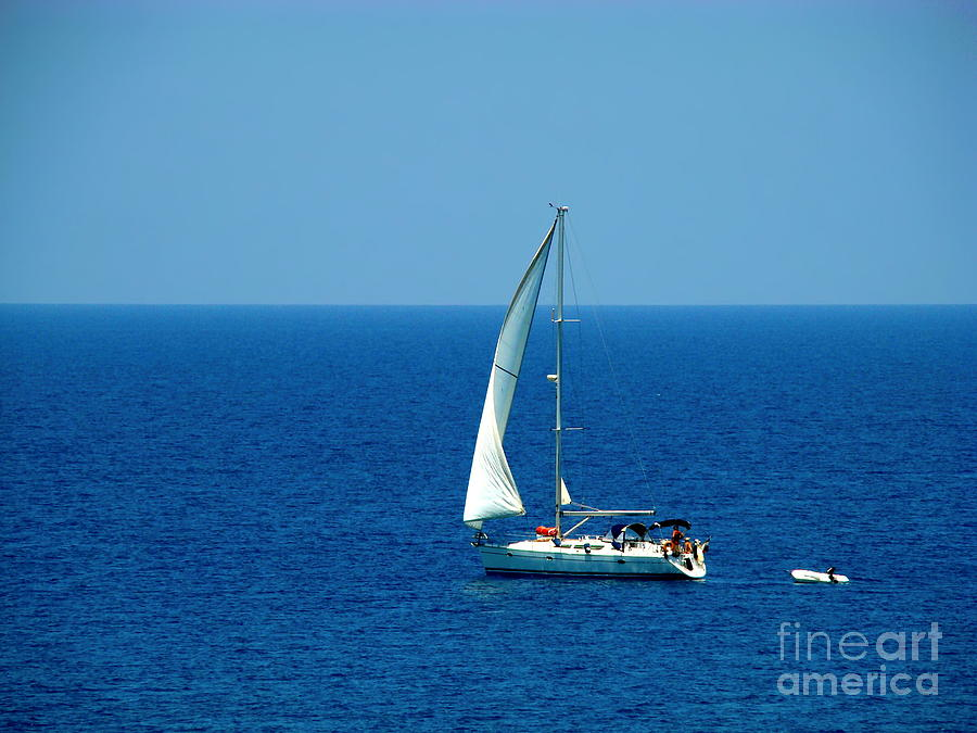 Sailing The Deep Blue Sea Photograph  - Sailing The Deep Blue Sea Fine Art Print