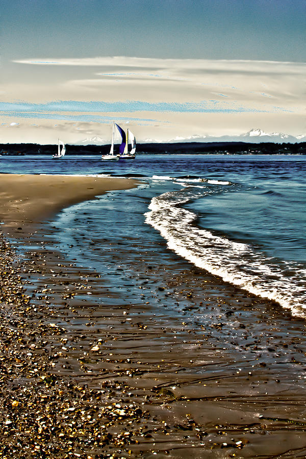 Sailing The Puget Sound Photograph  - Sailing The Puget Sound Fine Art Print