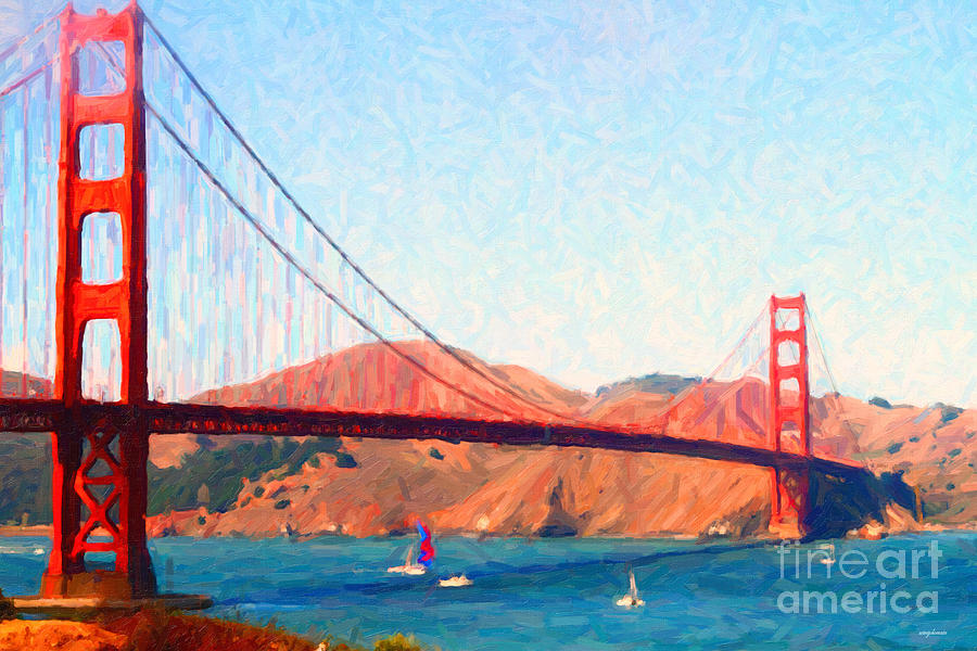 San Francisco Photograph - Sailing Under The Golden Gate Bridge by Wingsdomain Art and Photography