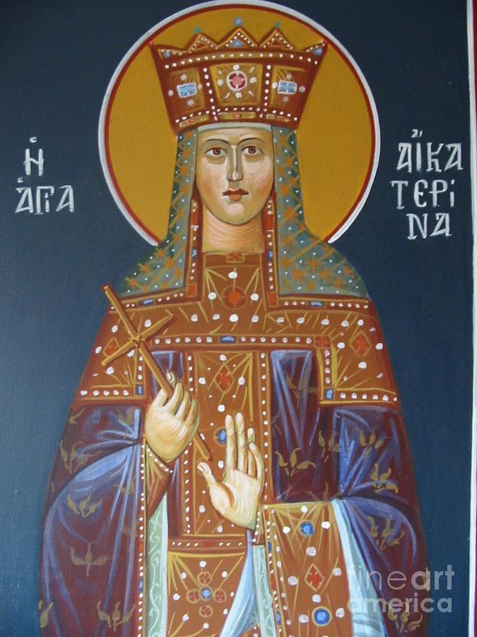 Saint Aekaterina Painting