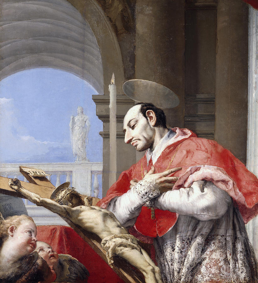 Saint Painting - Saint Charles Borromeo by Giovanni Battista Tiepolo