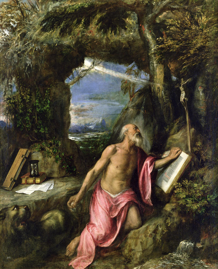 Saint Jerome Painting