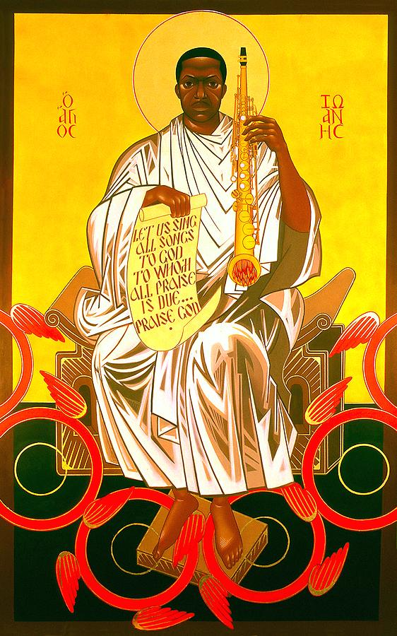 Saint John Coltrane Enthroned Painting  - Saint John Coltrane Enthroned Fine Art Print