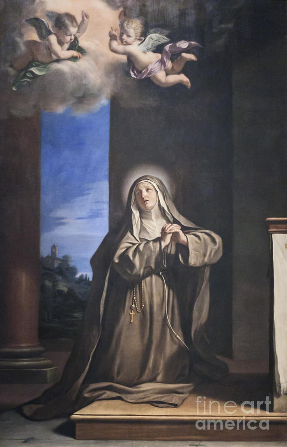 Barbieri Photograph - Saint Mary Magdalene Penitent By Il Guercino by Roberto Morgenthaler