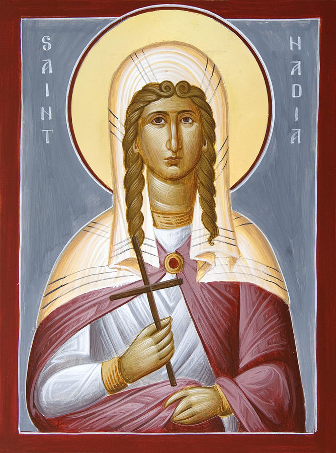 Saint Nadia Painting - Saint Nadia - Hope by Julia Bridget Hayes
