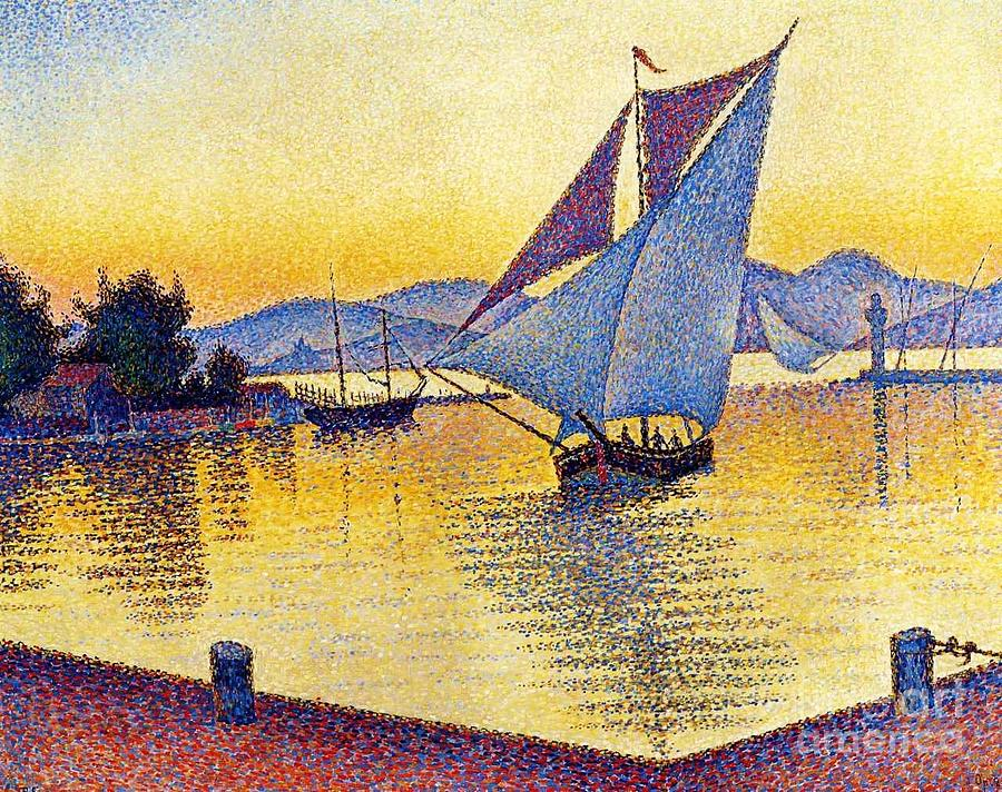 Saint Tropez At Sunset Painting  - Saint Tropez At Sunset Fine Art Print